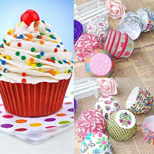 Suberde Lot de 100 mini caissettes en papier multicolores pour muffins et cupcakes