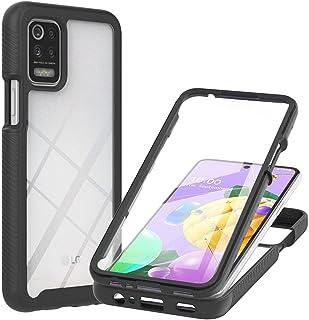 Capa para LG K52, 3 em 1 Capa protetora híbrida resistente e resistente, película de tela temperada, capa rígida de polica...