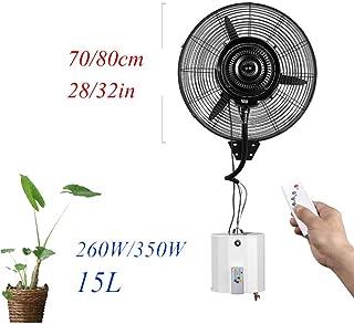 N / A Partición Industrial Ventilador silencioso Ventilador oscilante aspersión sin humidificador con Tanque de Agua de Control Remoto 3 15L Velocidad,Control Remoto,70 cm / 28in