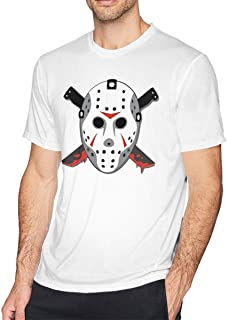 Jason Voorhees Men's Short Sleeve T-Shirt Cotton Printed Round Funny Tee Tops