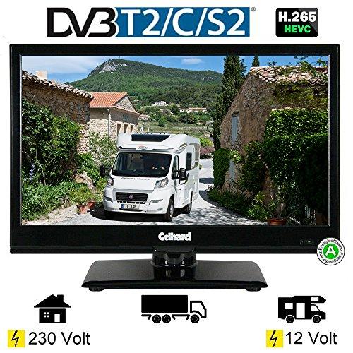 """Gelhard GTV-1642 SAT LED TV Fernseher 16\"""" Full HD 40cm, DVB-S2 /-C/-T/-T2 230V +12 + 24 Volt Energieeffizienzklasse A"""