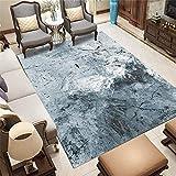 WQ-BBB Alfombra Habitación Minimalista Decoración Gris Jaspeada y Sencilla Dormitorio La Alfombrae 200X300cm