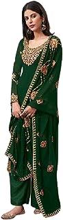 فستان هندي باكستاني حقيقي جورجيت مستقيم للنساء زي الحفلات المسلمين فستان بوليوود بتصميم أنيق 6059