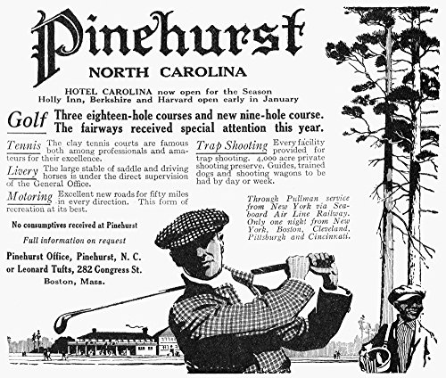 Golf Pinehurst 1916 Nadvertisement For Pinehurst Country Club In North Carolina From An American Magazine Of 1916 Poster Print by (18 x 24)