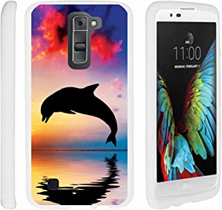Compatible with LG K7 Case (2016) | LG Tribute 5 | LG Treasure [Slim Duo] Hard Shell Snap On Case Compact Fitted Protector Matte on White Sea Ocean by TurtleArmor - Dolphin Jump