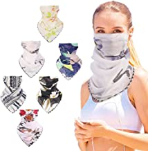 MaxFox 6PCS Face Scarf Printed Lightweight Protection Shields Bandana UV Protective Dustproof Mouth Coverings Guard