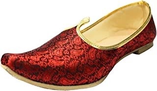 Step n Style Men's Mehroon Sherwani Shoes Pakistani Shoes Padhani Shoes Indian Nagra Khussa Jutti