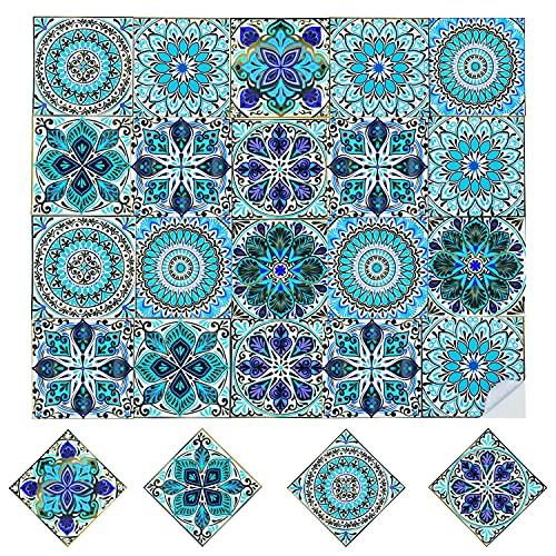 20 Stück Fliesenaufkleber Matt Klebefliesen 15x15CM Deko-Fliesenfolie Mosaikfliesen Selbstklebend Fliesensticker Klebefolie Fliesen Sticker Wandflieseaufkleber für Küche, Bad, Badezimmer