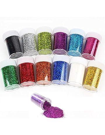 multicolore pittura scrapbooking body slime per feste Set di 12 barattoli con brillantini per decorazioni artistiche