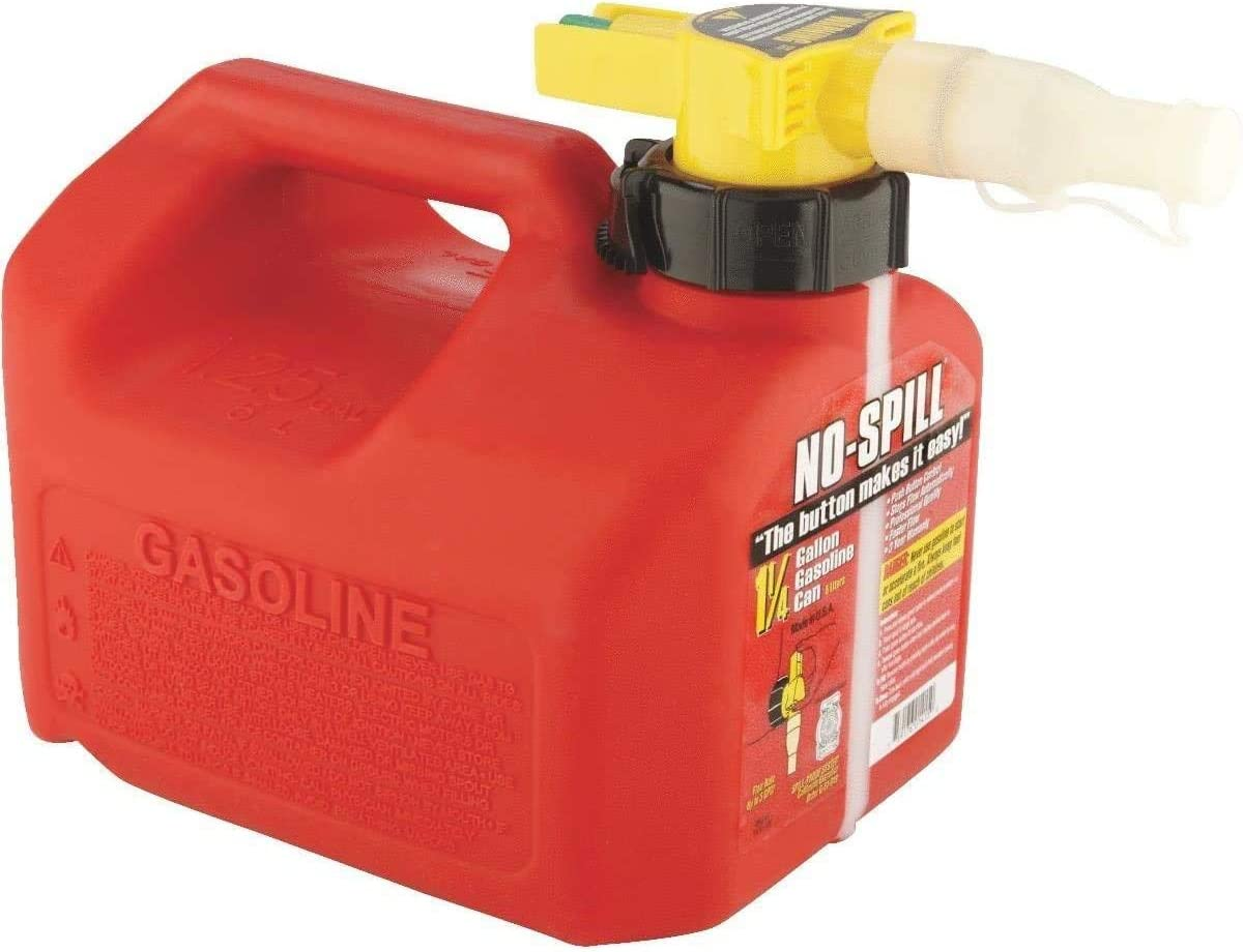 No-Spill Gas Can - 1.25 Red Gallon Max 77% OFF Max 59% OFF