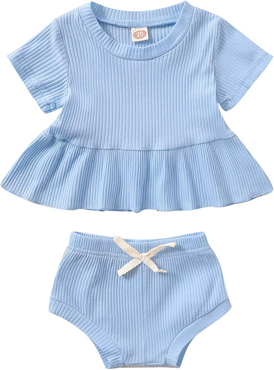 Baby Girls Max 86% OFF Short Clothes 2PCS T-Shi Outfits A surprise price is realized Summer Newborn