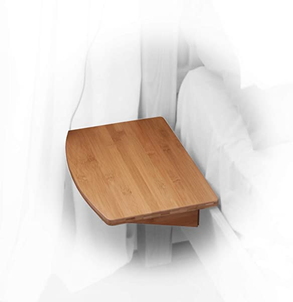 Woodquail Clip On Hanging Shelf Small Bedside Table Made Of Bamboo