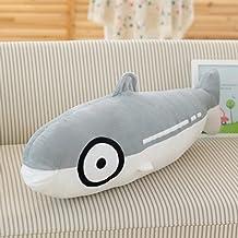 "ChezMax Cute Plush Decorative Throw Pillow for Home Office Sofa Stuffed Toys Back Cushion Creative Doll for Kids Salmon 15.7"""