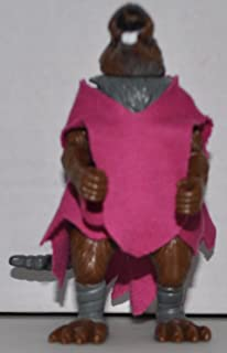 Vintage Splinter with Pink Robe (1993) - Action Figure - Playmates - TMNT - Teenage Mutant Ninja Turtles Collectible Figure - Loose Out of Package & Print (OOP)