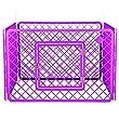 Iris Ohyama, parc pour chien / cage d'extérieur / enclos / chenil 4 éléments - Pet Circle - H-604, plastique, beige, 6,3kg, 90 x 90 x 60 cm