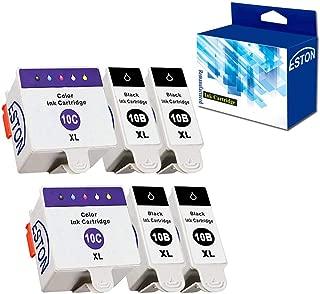 ESTON Ink Cartridges for Kodak 10XLB 10XLC ESP 3250 5210 5250 (4Black 2Color)