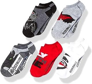 How to Train your Dragon Boys' Big 5 Pack No Show, Assorted Dark, Sock sz 6-8.5 fits Shoe Sz 7.5-3.5