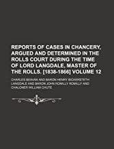 Reports of Cases in Chancery, Argued and
