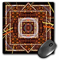 3drose LLC 8x 8x 0.25インチマウスパッド、曼荼羅30Earth Zen Innerバランスオレンジ/ブラウン平和ハーモニー( MP _ 42581_ 1)