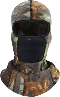 MIFULGOO Balaclava Ski Mask Full Face Cover Windproof Hood for Cold Winter Weather Camo