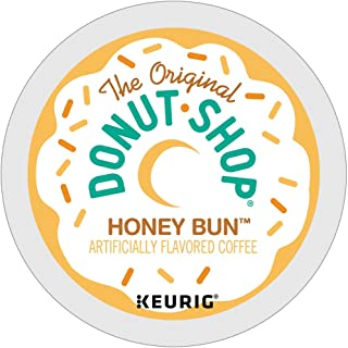 The Original Donut Shop Honey Bun coffee single serve capsules for Keurig K-Cup Pod brewers (18 Count)