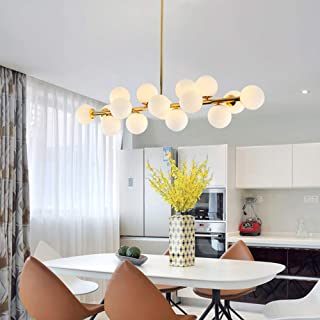 Fandian Post-Modern Ceiling Light LED Chandelier Pendant Lamp, DNA Shaped with G4 LED Kits (Bright Gold)