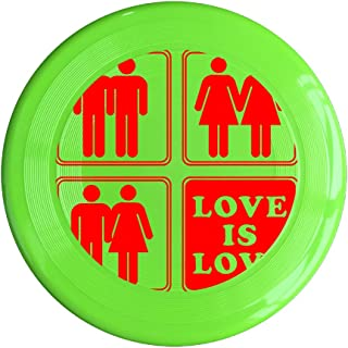 VOLTE Love Is Love Gay Marriage Yellow Flying-discs 150 Grams Outdoor Activities Frisbee Star Concert Dog Pet Toys