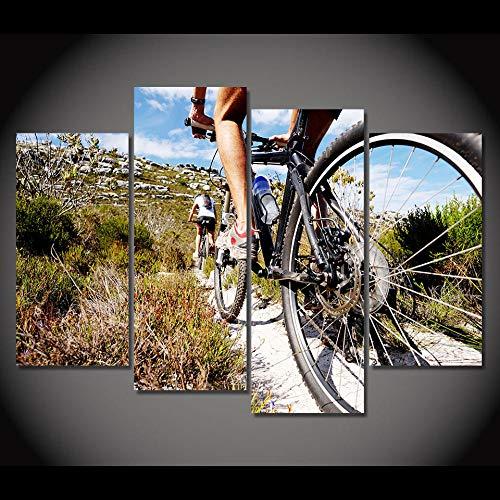 BBXJJ 5 panelen muurkunst dierenschilderij muurkunst modulaire poster huis decoratie 4 panelen fiets Motocross Hd bedrukt modern canvas Living Frameless 30x60x2 30x80cmx2