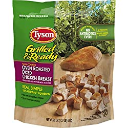 Tyson, Grilled & Ready Oven Roasted Diced Chicken Breast, 22 oz (Frozen)
