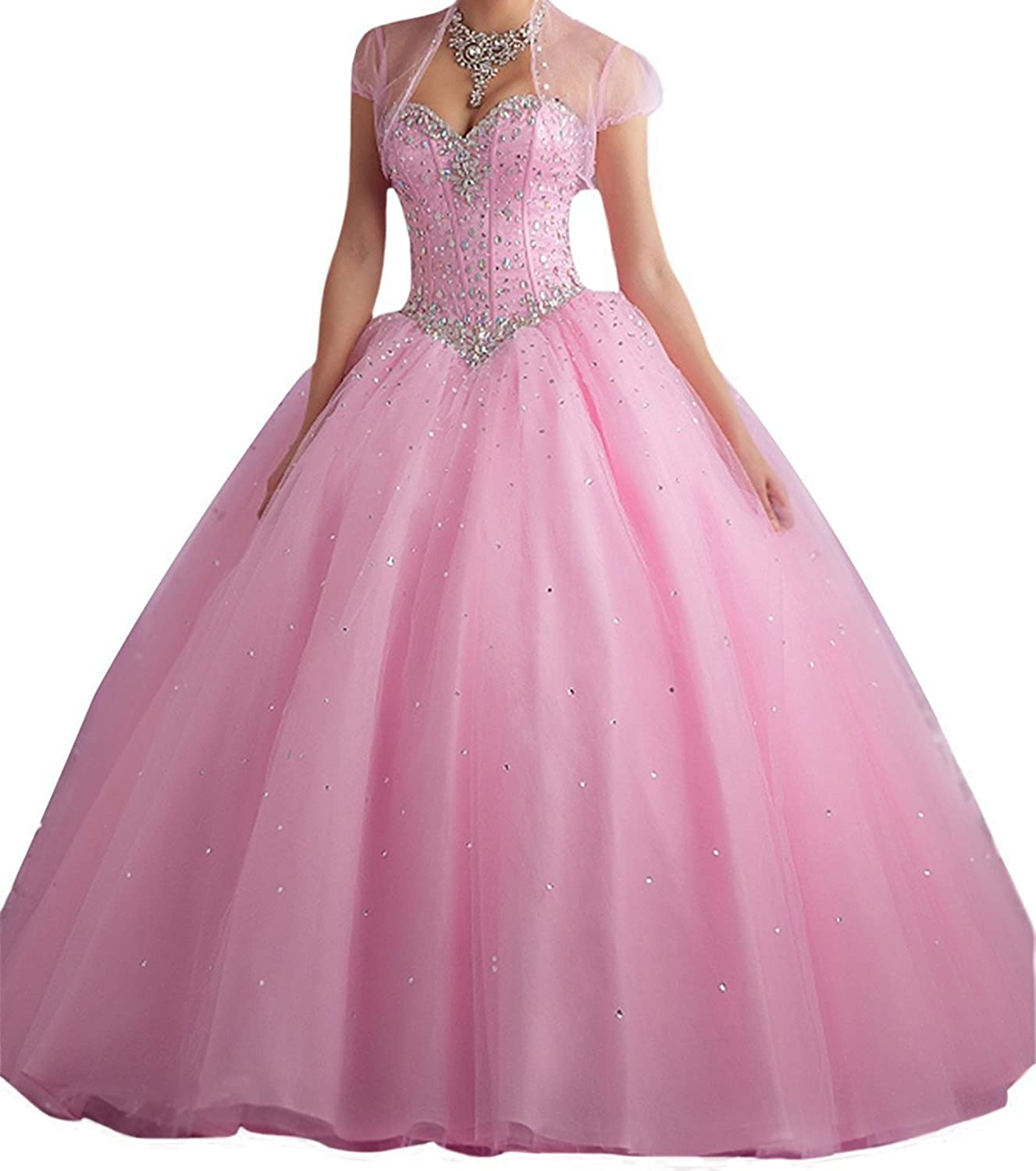 Kaitaijidian Women's Sweetheart Long Quinceanera Dresses Beaded Prom Dresses Ball Gown 651