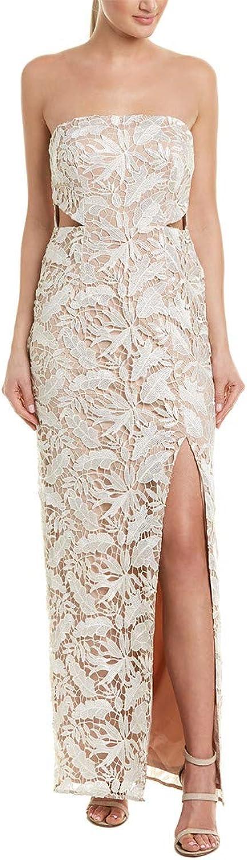 Aidan Mattox Aidan Womens OffTheShoulder Side Slit Formal Dress