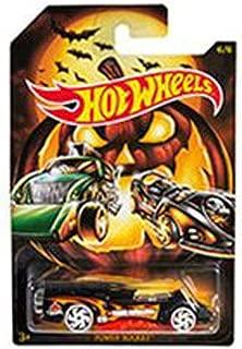 Hot Wheels Halloween 2019 Die-Cast Metal Vehicle Series 6/6 GBC60 Power Rocket - Black Race Car with Orange Flames