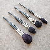 YSJJMES Brochas de Maquillaje Pinceles de Maquillaje de Maquillaje Hecho a Mano Profesionales Set Soft Cabra Pelo Powder Powder Blush Highlight Sculpting Brush Kit de Pincel