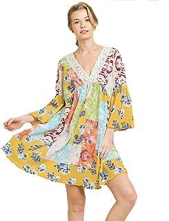 52a32858792 Umgee Boho Babydoll! Patchwork Dress