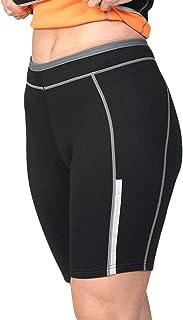 SaunaTek Women's Neoprene Sauna Sweat Suit Shorts for Weight Loss and Body Shaping
