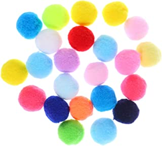 SUPVOX 100pcs Craft Pom Poms Elastic Pompoms Balls Small Pom Poms for DIY Arts Hobby Supplies Creative Kindergarten Prop D...