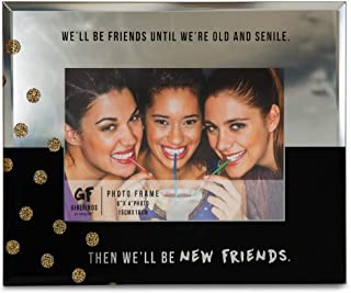 Pavilion Gift Company 75103 New Friends Mirrored Photo Frame, 7 x 9