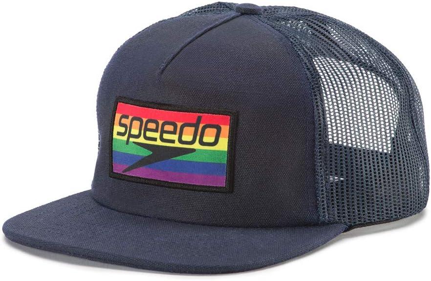 Speedo Pride Trucker Hat, Rainbow Brights, One Size