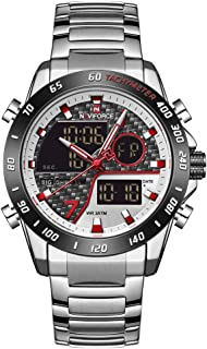 Naviforce Men's Black Dial Stainless Steel Analogue Classic Watch - NF9171-SWS