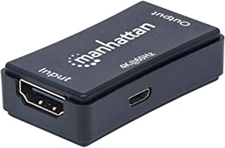 Manhattan 4K HDMI Repeater, Active, Distances up to 40 m, Black, Blister