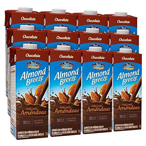 Kit Bebidas de Amêndoas Almond Breeze Chocolate 12x1L