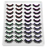 4 Different Styles Fake Eyelashes, FANXITON 20 Pairs Fluffy Volume False Lashes 3D Faux Mink Lashes Pack