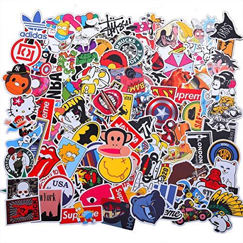 EKKONG Aufkleber, 100 Stücke Anime Stickers, Wasserdicht Vinyl Dekorative Decals für Auto Motorräder Fahrrad Skateboard Snowboard Gepäck Laptop MacBook Pad (C Style)