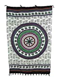 Pareo Sarong Tuch bunt farbig mit Elefant Mandala Design/große Auswahl schönste Farben/Wickelrock Strandtuch Sauna-Tuch Wickelkleid Schal Bademode Freizeitmode Sommermode/aus 100% Viskose