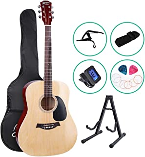 41 Inch Acoustic Guitar Classical Guitar CAPO Strap Tuner Pick ALPHA - Natural