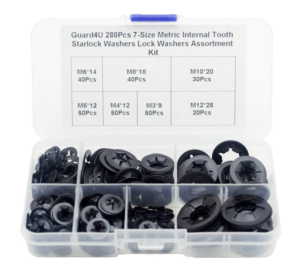 Guard4U 280Pcs 7-Size Metric Internal Tooth Ass Popular popular Washers Ranking TOP7 Starlock