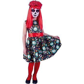 El Rey Del Carnaval - Disfraz De Catrina Para Niña Talla 8 A 10 ...