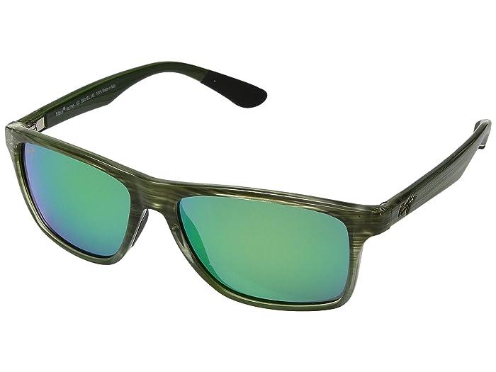Maui Jim  Onshore (Olive Stripe Fade/Mauigreen) Fashion Sunglasses