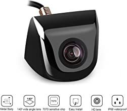 Backup Camera, KEELEAD Rear View Camera, Night Vision Wide Angle Waterproof Parking Camera with Metal Case Universal Vehicle Reversing Security for Car SUVs