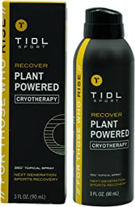 TIDL Sport - Plant Powered Cryotherapy Spray: Immediate Pain Relief, Muscle Recovery, Instant Cooling Effect, 360 Spray Technology, Plant Based Therapy & Exercise Science - 3.4oz